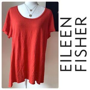 Eileen Fisher 100% Linen Women's Tee T-Shirt